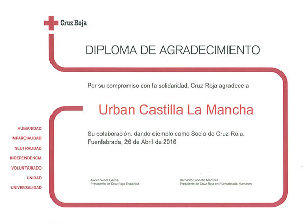 Urban Castilla La Mancha colabora con Cruz Roja