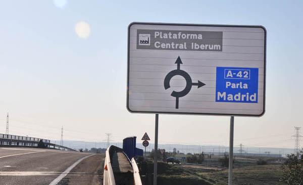 Nuevo acceso desde la A-42 a Plataforma Central Iberum