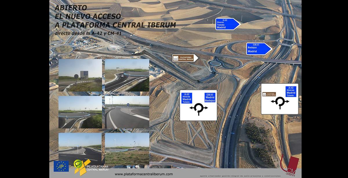 Plataforma Central Iberum inaugura un nuevo acceso desde CM-41 y A-42